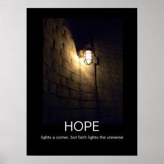 Hopp- och trodemotivationalaffisch poster