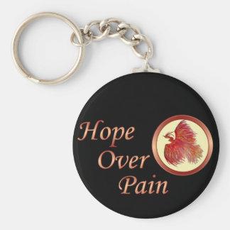 Hopp över smärtar Phoenix logotypkeychain Rund Nyckelring