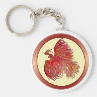 Hopp över smärtar Phoenix Rund Nyckelring