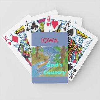 Hopp som läker den kyrkliga Iowa kristen som leker Spelkort