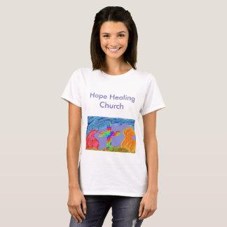 Hopp som läker den kyrkliga kristna tshirten tee shirts