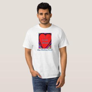 Hopp som läker kyrkan älskar jag, den Jesus Tee Shirts