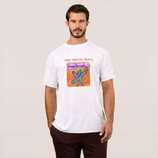 Hopp som läker kyrkliga Jesus, sparar den kristna T Shirt