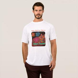 Hopp som läker kyrkliga Jesus, sparar den kristna Tee Shirt