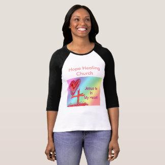 Hopp som läker kyrkliga kristna kvinna skjorta t-shirts