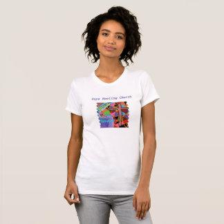 Hopp som läker kyrkliga kristna kvinna T-tröja T-shirts