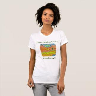 Hopp som läker kyrkliga kvinna kristna T-tröja Tee
