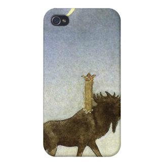 Hoppa älgen och princessen Tuvstarr av John Bauer iPhone 4 Fodraler