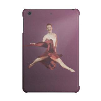 Hoppa ballerinaen i rött och lavendel