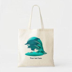 Hoppa blåttdelfinpersonlig tygkasse