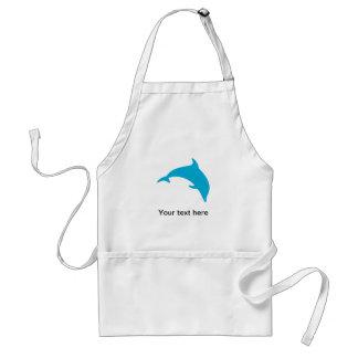 Hoppa blåttdelfinsilhouetten förkläden