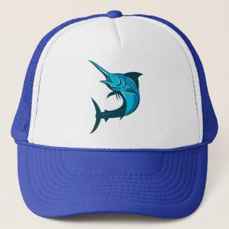 hoppa för blåttmarlinfisk som är retro keps