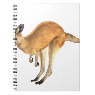 Hoppa för känguru anteckningsbok