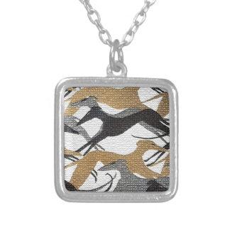 Hoppa hundar silverpläterat halsband