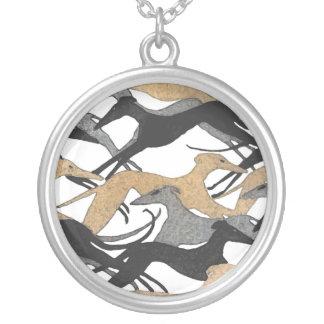Hoppa hundhalsbandet halsband med rund hängsmycke