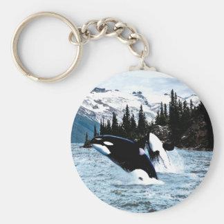 Hoppa orcaen rund nyckelring