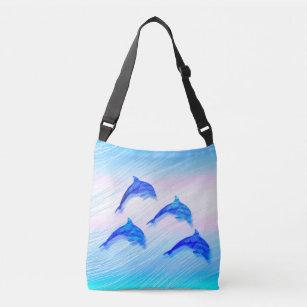 hoppa över delfiner axelväska