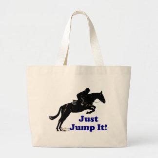 Hoppa precis det! Häst Jumbo Tygkasse