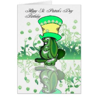 Hoppy Sts Patrick dagfödelsedag, saint patrick Hälsningskort