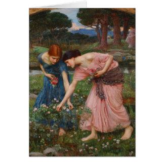 HopsamlingYe-rosenknoppar av John W. Waterhouse Hälsningskort