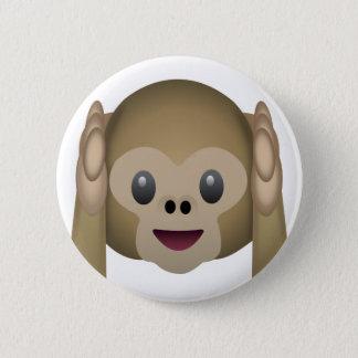 Hör ingen ond apa Emoji Standard Knapp Rund 5.7 Cm