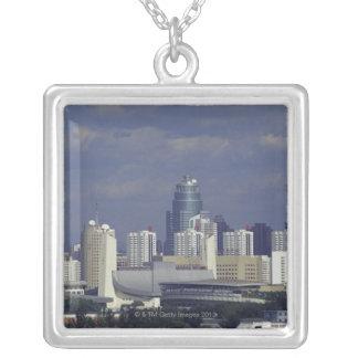 Horisont av Beijing, china Silverpläterat Halsband