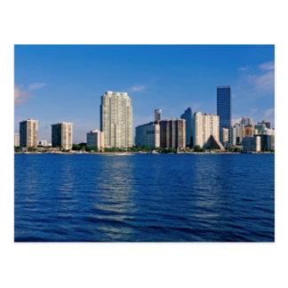 Horisont av Miami, Florida Vykort