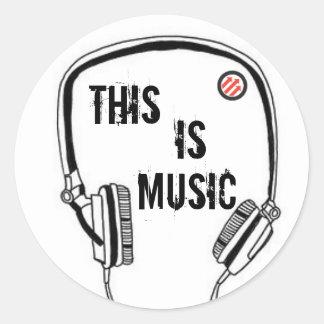 Hörlurar detta är musik runt klistermärke