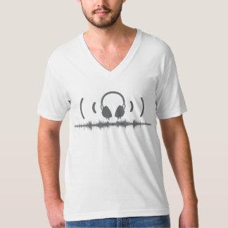 Hörlurar med Soundwaves och audio i grå färg v1 Tröja