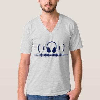 Hörlurar med Soundwaves och audio i marinen v1 T Shirts
