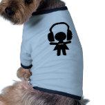 Hörlurar som sitter fast metallmusik hund kläder