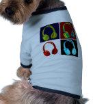 Hörlurarpopkonst Hund T-shirts