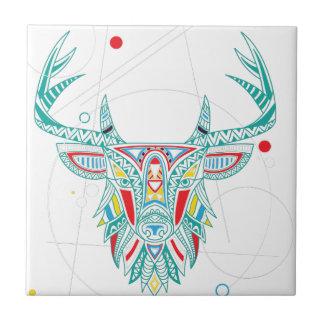 Horn för hjort för Wellcoda prydnad djur Head Kakelplatta