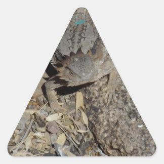 Horned ödla triangelformat klistermärke
