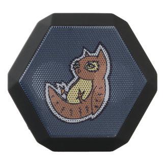 Horned uggla på dess för bukteckning för baksida svart bluetooth högtalare