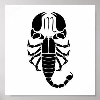 horoskop för zodiac för scorpioscorpionastrologi poster