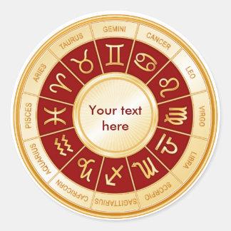HoroskopMandala Runt Klistermärke