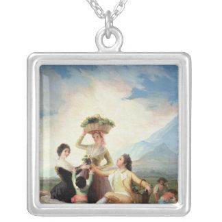 Höst eller druvaskörden, 1786-87 silverpläterat halsband
