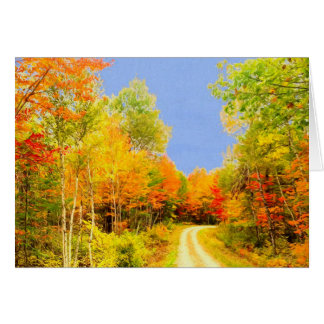 Höst färger Maine Hälsningskort