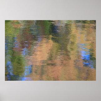 Höst färger på vatten poster
