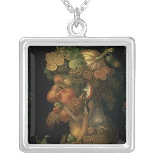 Höst från en serie som visar fyrana silverpläterat halsband