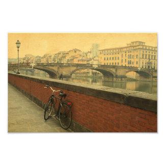 Höst i Florence, vintage Fotontryck