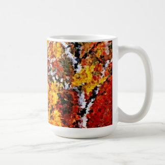 Höst i skogen - målningkonstmugg kaffemugg
