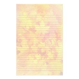 Höst löv fodrat handstilpapper brevpapper
