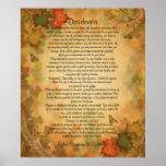 """Höst löv """"för önskade saker"""" för Desiderata Print"""