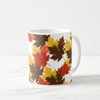 Höst löv kaffemugg