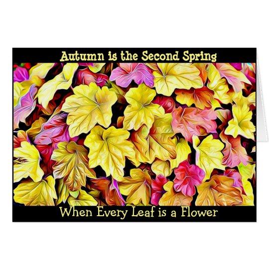 Höst löv nätt säsongsbetonat kort för