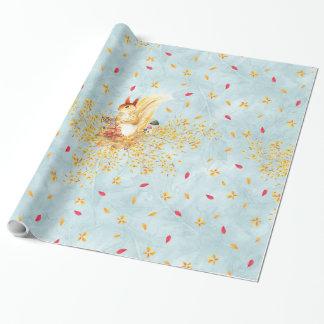 Höst lövmönster presentpapper