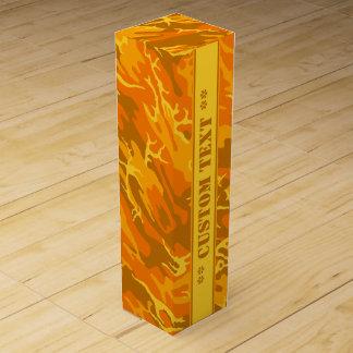 Höst orange Camo med beställnings- text Vinlåda