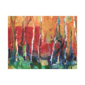 Höstabstrakt landskap konstmålning canvastryck